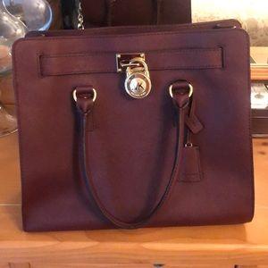 Michael Kors Hamilton bag (large, burgundy)